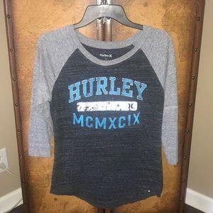 Hurley 3/4 length shirt. Size small